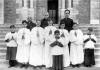 Groupe d'enfants de coeur - 1942